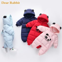 baby girl new born costumes Australia - Baby Boy Girl Clothes 2019 New Born Winter Hooded Rompers Thick Cotton Outfit Newborn Jumpsuit Children Costume Toddler Romper MX190720