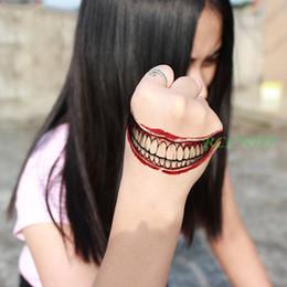 $enCountryForm.capitalKeyWord NZ - Waterproof Temporary Tattoo Sticker 3D Halloween ghost Terror Wound tooth red bloody lip stickers flash tatoo fake tattoos 7