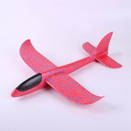 Toys Airplane Australia - 48cm Big Good Quality Hand Launch Throwing Glider Aircraft Inertial Foam Airplane Toy Children Plane Model Outdoor Fun Toys