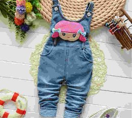 $enCountryForm.capitalKeyWord Australia - good quality Free shipping children pants Baby girls cute cartoon cowboy suspender Denim Overall Trousers kids cartoon infant jeans