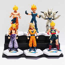 gotenks action figure Australia - Anime Dragon Ball Z Super Saiyan Goku Vegeta Gotenks Buu Pvc Action Figure Toys 6Pcs  Set 12Cm Approx Free Shipping