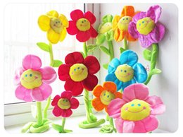 Cloth Bouquet Australia - Lovely Colorful plush doll bouquet sun flower gift toy children desk adults wedding Decor Flowers mix color flower collections soft jugetes