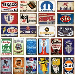 Discount tin motorcycle wall art - Motor Oil Metal Signs Motorcycle Car Trucks Garage Decor Vintage Tin Poster Plate Hotel Pub Home Art Craft Wall Decorati
