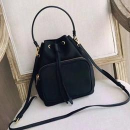 Ingrosso Commercio all'ingrosso sacchetto delle donne della tela di canapa lWaterproof coulisse coulisse borsa secchiello signora messenger bag borsa del telefono catena borsa borsa tracolla