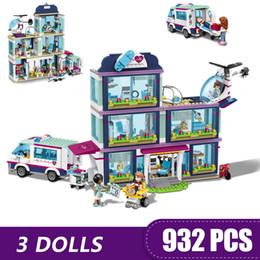 $enCountryForm.capitalKeyWord Australia - 932pcs Small Building Blocks Toys Compatible With Legoe Friends Heartlake City Hospital Gift For Girls Boys Children Diy MX190730