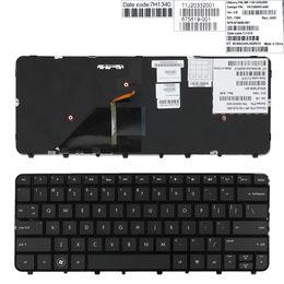 NUEVA Inglés teclado del ordenador portátil para HP Folio 13 13-1000 13-2000 teclado retroiluminado brillante de un marco US 673656-001 teclado portátil de reparación de EE.UU. en venta