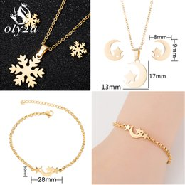 $enCountryForm.capitalKeyWord Australia - Oly2u Snowflake Bridal Jewelry Sets For Women Gold Choker Necklaces Stud Earrings Set Fashion Jewelry pendientes mujer moda 2019
