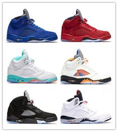 buy popular d25d2 ca2b1 Light Aqua Laney 5 5s Herren Damen Basketballschuhe International Flight  Blau Rot Wildleder Weiß Zement OG Schwarz Designer Sport Sneaker Größe 36-47