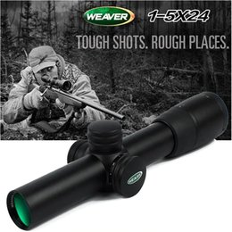 $enCountryForm.capitalKeyWord Australia - Holy warrior WEAVER1-5X24E Optical Sight Red Illuminated Rifle Scope Quick Detach Hunting Scopes for Airsoft Weaver Mount