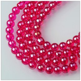 $enCountryForm.capitalKeyWord NZ - 8mm 10mm Glass Crystal Dazzling Round Spacer Beads For DIY Jewelry Decoration Making Rose Red Pink White Champagne