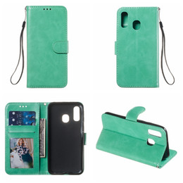 Iphone 5g Card Australia - Case For Samsung S10 5G S10E Note 9 8 M30 M20 M10 A70 A50 A40 A30 Crazy Horse Leather Wallet Card ID Slot Pocket Holder Stand Luxury Pouch