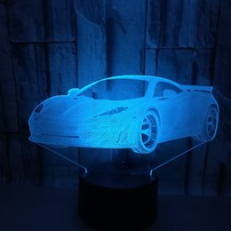 Saving Card Australia - Heat Sell New Pattern Automobile Colorful 3d Lamp Energy-saving Led Illusion Lamp Sports Car Originality Vision Three-dimensional 3d Lamp