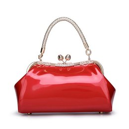Rose Hand Bag NZ - New Fashion Leather Pu Shoulder Bag Tote Handbag With Rose Clip Bridal Bags Elegant Party Totes Hand Chain Bag For Women Ladies