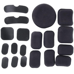 Helmet Hook online shopping - Non toxic Protective Cushion Replacement Pads Helmet Pads Black EVA Helmets With Hook And Loop Fastener