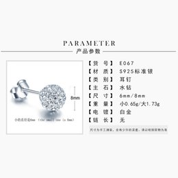 $enCountryForm.capitalKeyWord NZ - Special price S925 pure silver jewelry water drill Earrings Korean version full drill zircon ball earpin explosive accessories a substitute