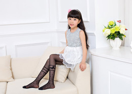 Girl Knees Leggings NZ - Summer Girls leggings baby tights solid baby stocking kids bow-knot stocking tights underpants pantyhose children's tights