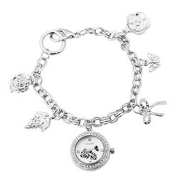 $enCountryForm.capitalKeyWord Australia - ASJ Fashion Personality Creative Decorative Watches Rose Pattern Round Dial with Drill Flower Pendant Chain Bracelet Wristwatch