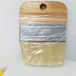$enCountryForm.capitalKeyWord Australia - 1 PC Wooden Handle Chalk Paint flat Brush Bristle Chalk Oil Paint Painting Wax Brush Artist Art Supplies Hand tool set free shi