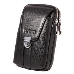$enCountryForm.capitalKeyWord NZ - Genuine Leather Waist Cell mobile Phone Hook Bag Belt Bum Small Money Cigarette Case Purse Pouch Men Natural Skin Fanny Pack