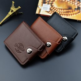 Business Card Holder Magnetic Australia - Explosion Models Wholesale Men's Wallet Short Paragraph Europe and The United States Magnetic Buckle Multi-function Wallet