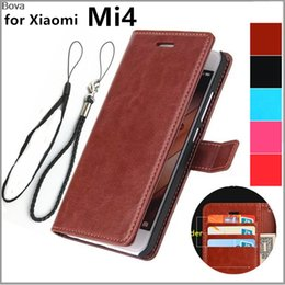 Discount mi4 phone case Xiaomi 4 Mi4 card holder cover case for Xiaomi Mi4 M4 Pu leather phone case ultra thin wallet flip cover