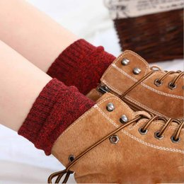 warmest thermal socks UK - 201910 Women Wool Socks Fuzzy Heavy Thermal Thick Warm Cotton Boot Winter Socks Casual Slipper Stockings for Girls Christmas Best Gift