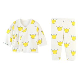 blouse sets Australia - Kids Pajamas Children Sleepwear Baby Pajamas Sets Boys Girls Floral Long Sleeve Blouse Tops+Pants Cotton Nightwear Clothes 0-12M