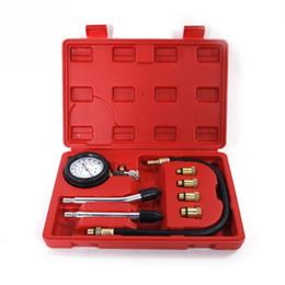 Carro Cars NZ - 1pc Pressure Gauge Compression Tester Leakage CAR 1 Auto briefcase TIRE acessorios para carro tool kit for Car compressometer