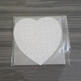 Sublimazione Blank Blank Puzzle Puzzle FAI DA TE Puzzle cuore Amore Forma Puzzle Transfer Hot Stampa Blank Consumables Bambino Giocattoli Giocattoli Regali in Offerta