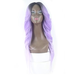 $enCountryForm.capitalKeyWord UK - Zxtress Front Loose Wave Back Straight Hair Capless Synthetic Wigs For Black Women Kanekalon Heat Resistant Little Lace Wig Middle Parting