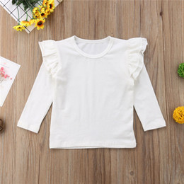 $enCountryForm.capitalKeyWord Australia - Toddler Baby Kids Girls Cotton Long Sleeve Solid Color Tee Tops T-Shirt Clothes White Black Wine Red