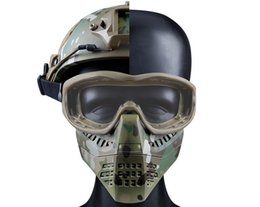 Paintball Tactical Gear Australia - Ant Shape Mask Full Face Mask Paintball Airsoftsports Plastic Tactical Mask for CS Wargame Tactical Gear