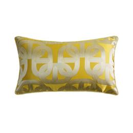 $enCountryForm.capitalKeyWord UK - Hinyeatex Contemporary Soft Golden Chain Elipse Waist Pillow Case 30x50cm Home Living Deco Sofa Car Chair Lumbar Cushion Cover Sell by Piece