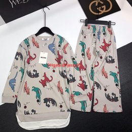boy cat pant Australia - Children's home set autumn fashion kids designer clothing long-sleeved shirt + pants 2pcs cat pattern cotton boys and girls home set201919