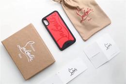 Ingrosso Cassa del telefono di lusso per Iphone XS Cassa del telefono per Iphone Brand Designer Cassa del telefono per iPhone X 678 Plus