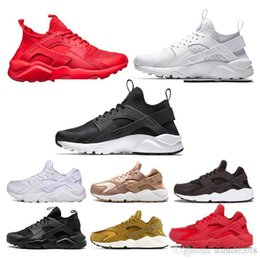 Roses Black White NZ - cheap Huaraches Shoes Luxury Mens Womens black white Triple black Triple white all red rose gold yellow white Cheap Running Shoes Size 36-45