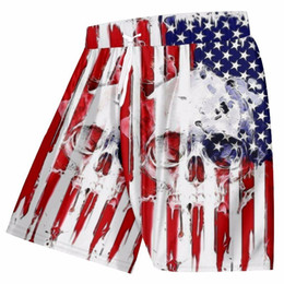 Wholesale flag board shorts for sale - Group buy OGKB Men s Cool Print American Flag Skull d Board Mermuda Shorts Man Hiphop Trunks Beach Wear XL MX200407