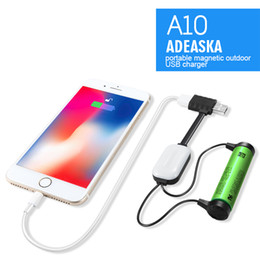 $enCountryForm.capitalKeyWord NZ - High ADEASKA A10 18650 Battery Charger for Li-ion Batteries Multifunction Magnetic USB Charger Mini Charging Discharging Power Bank DHL