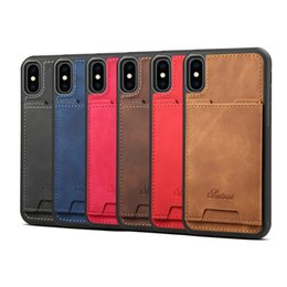 Iphone Credit Australia - For iPhone Xs Max Xr S10 Lite 9 8Plus Wallet Case Luxury PU Leather Cell Phone Back Case Cover with Credit Card Slots