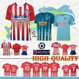 c2cc6b76e5fc2 Cheap sales Madrid Atletico Soccer Jerseys Griezmann Lucas DIEGO COSTA 19  Koke football shirt WOMEN man Kids Kits Football jerseys