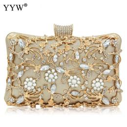 silver clutch purse for wedding 2019 - Evening Clutch Bag Party Wedding Crystal Clutches Purse Crossbody Bags For Women Luxury Chain Shoulder Bag With Rhinesto