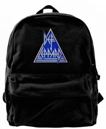 Art Canvas Prints Australia - Def-Band-Music-Leppard-Art Fashion Canvas designer backpack For Men & Women Teens College Travel Daypack Leisure bag