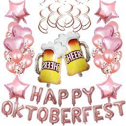 $enCountryForm.capitalKeyWord Australia - 1 Set Foil Balloons Happy Oktoberfest Letters Beer Cups Pattern Mylar Five-Pointed Star Heart Helium Balloons Party Decor