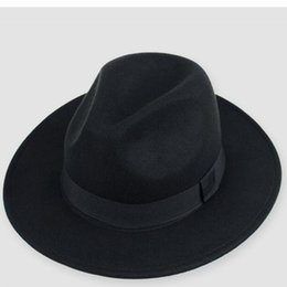37e6cfaf957 Fashion Vintage Solid Polyester Fedoras hats for women wedding For mens  hats fedoras Women hat sun jazz gangster 2018 New Brand D19011102