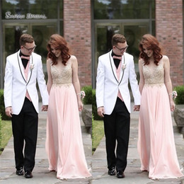 7c24edee0e83b 2019 A-line Elegant Chiffon With Appliques Pink Maid Of Honor Dress  Sleeveless Vestidos De Novia Wedding Bridesmaid Dress