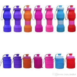 water tumblers wholesale NZ - Travel Water Bottle Silicone Retractable Folding Water Bottles Outdoor Telescopic Collapsible Folding Tumbler Cups Folding Water Cup