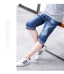 Toddler Boy Jeans Australia - Kids Designer Clothes Girls Jeans shorts toddler boys soft denim summer beach shorts bottom clothes for girl pants cotton shorts 110-160cm