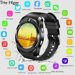 $enCountryForm.capitalKeyWord Australia - V8 Smart Watch Men Bluetooth Sport Watches Women Ladies kids Touch Screen Smartwatch with Camera SIM Card Slot Android Phone