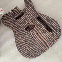 Free shipping zebra wood TL guitar body one piece wood body no painting on Sale