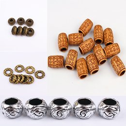 Retro Vintage Fashion Plastic Loose Beads Big Hole Loose Beads Fit for DIY Jewelry Findings Pick Up The Button Decorative Beads on Sale